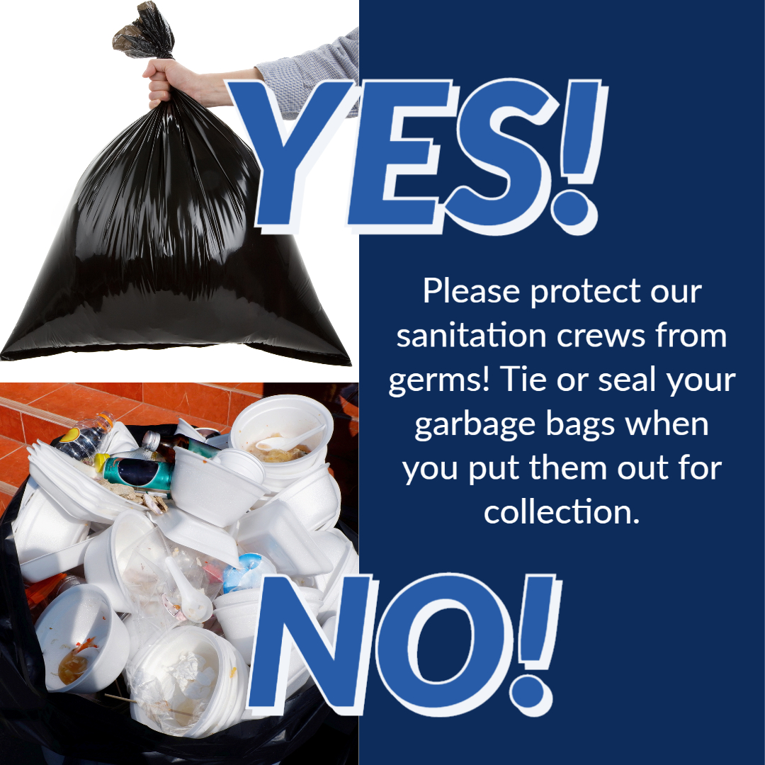 Seal your garbage bags graphic square