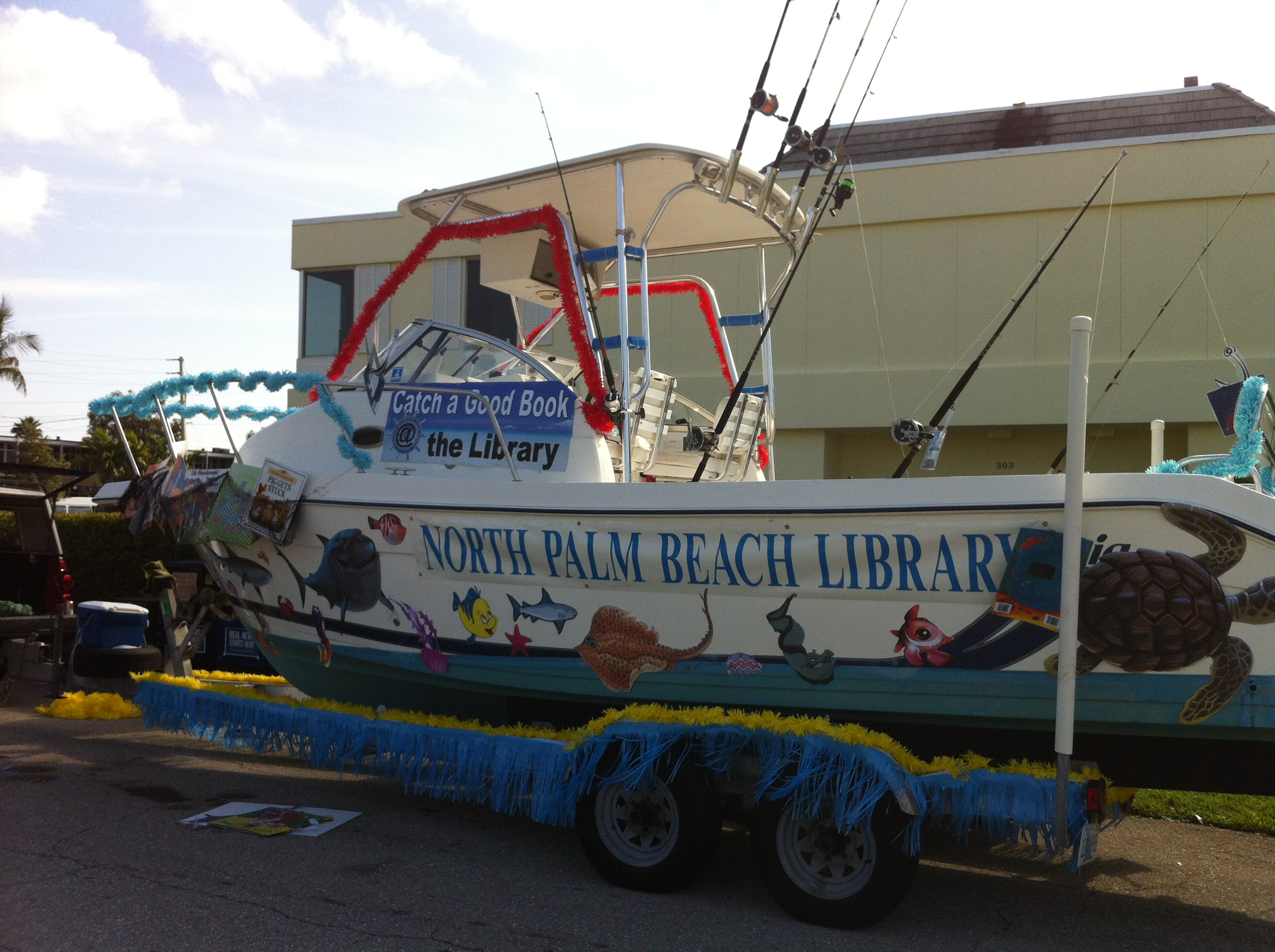 The North Palm Beach Library Float in the parade