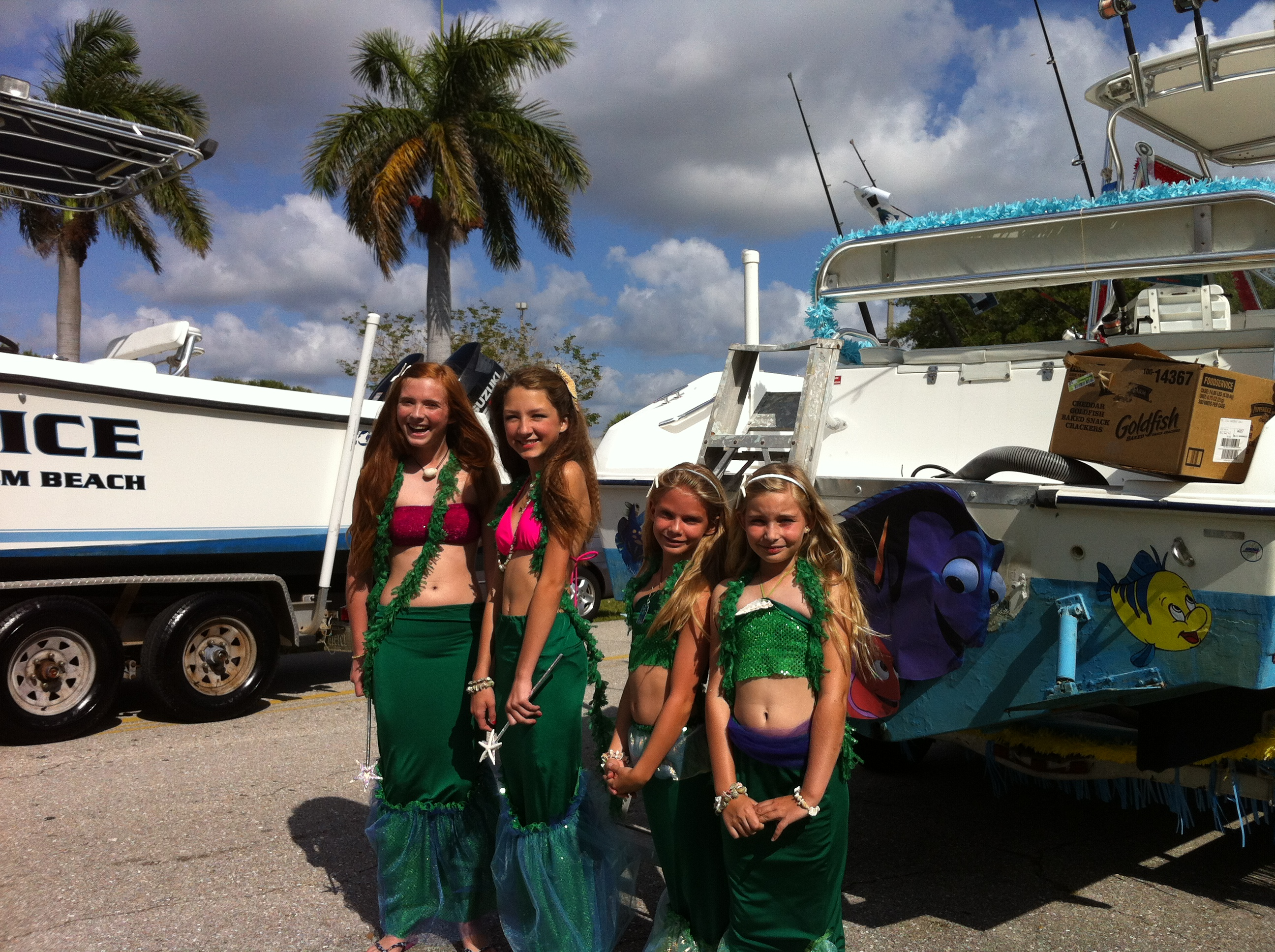The sea ladies pose together for a photo