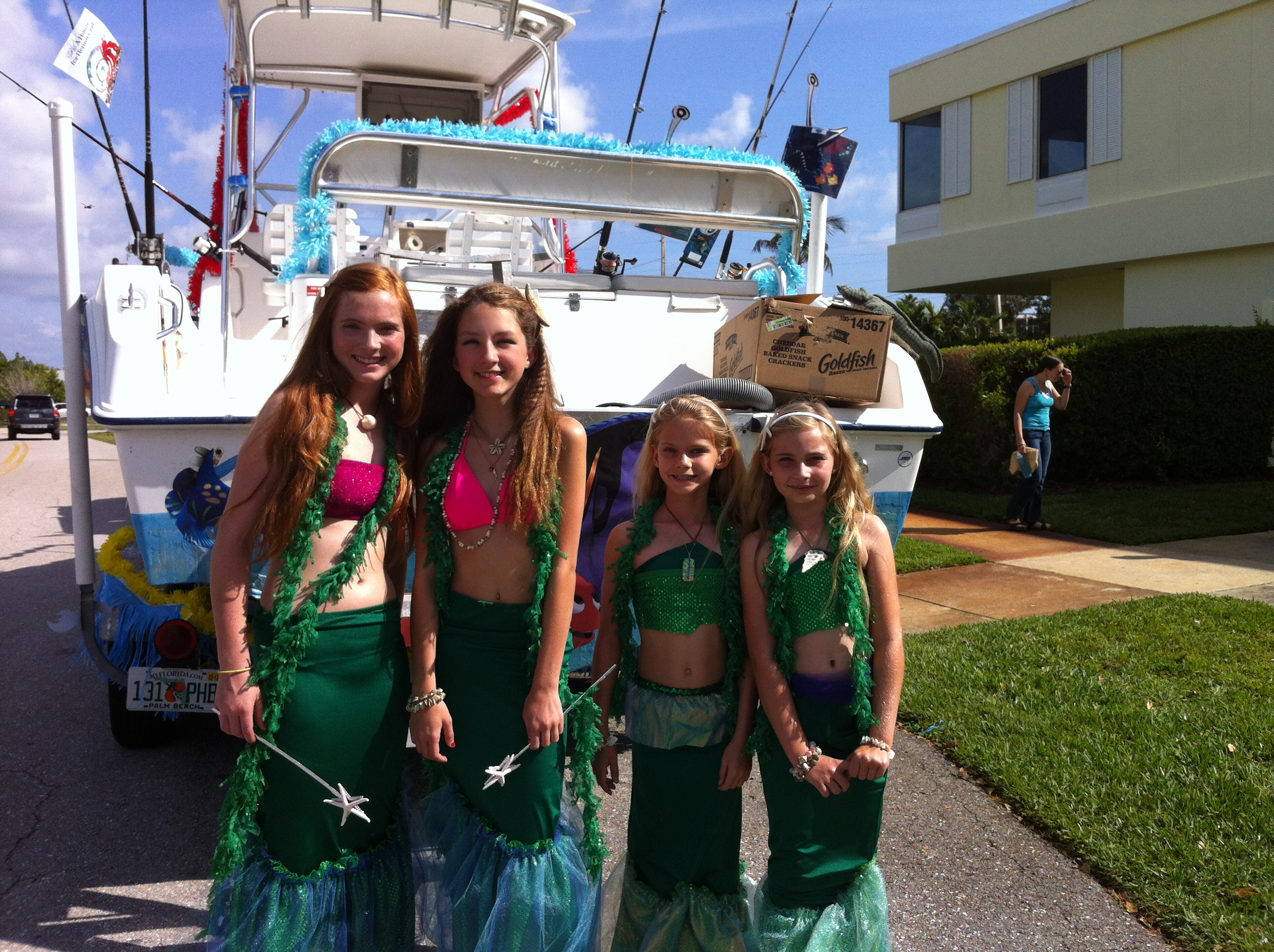 Posing for pictures before the parade starts