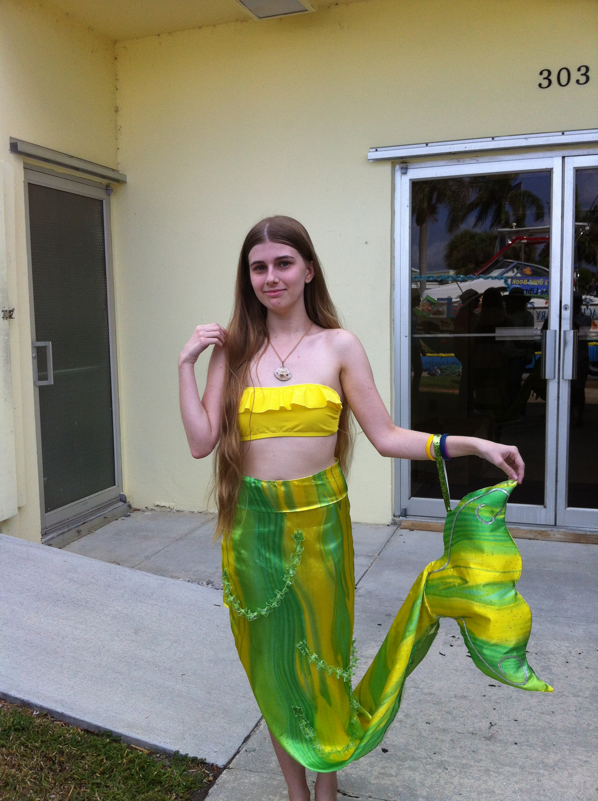 A mermaid is ready for the parade