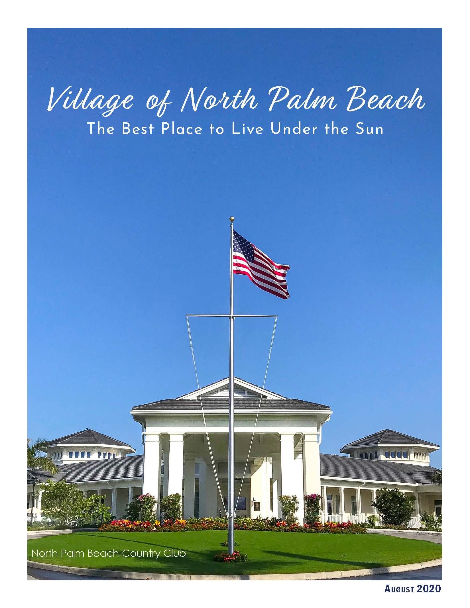 AUGUST 2020 cover with photo of front of Country Club
